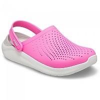 [해외]크록스 라이트 라이드 Clog Electric Pink / White