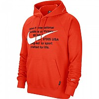 [해외]나이키 Sportswear Swoosh French Terry Team Orange / White