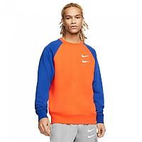 [해외]나이키 Sportswear Swoosh Crew French Terry Team Orange / Deep Royal Blue / White