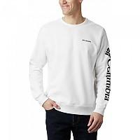 [해외]컬럼비아 로고 Fleece White / Black