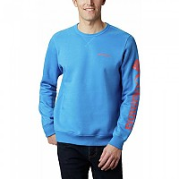 [해외]컬럼비아 로고 Fleece Azure Blue Heather / Wildfire