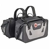 [해외]QBAG Saddle ST07 Waterproof 50L 2 Units Grey / Black