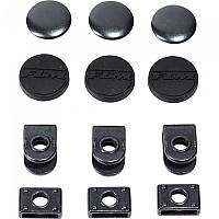 [해외]FLM Trouser 버튼 위드 Rubber Hook 16 mm 3 Units Black