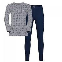 [해외]오들로 세트 Warm 셔츠 L/S 팬츠 롱 Peacoat / Grey Melange