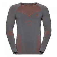 [해외]오들로 에보lution Warm 셔츠 L/S 크루 넥 Odlo Steel Grey / Orangeade