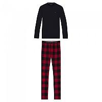 [해외]타미힐피거 언더웨어 Pant Flannel Tee Set Desert Sky/Primary Red