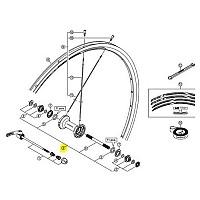 [해외]시마노 RS11 Front Axle 137552077 Black