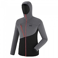 [해외]밀레 Elevation Power Hoodie 4136673860 Noir / Tarmac