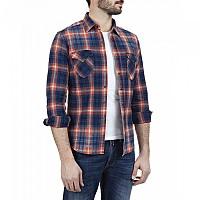 [해외]리플레이 M4860B Shirt 137655859 Blue / Orange