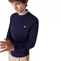 [해외]라코스테 Classic Fit Crew Organic Cotton 137684959 Navy Blue