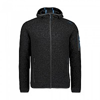 [해외]CMP Man Jacket Fix Hood 5137698820 Black / River