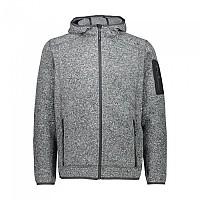 [해외]CMP Man Jacket Fix Hood 5137698822 Black Melange / Antracite