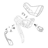 [해외]스램 Shifter Brake Lever Hydraulic Rival 22 Rear 1137670629 Black