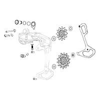 [해외]스램 Rear Derailleur Force Wide E-Tap AXS B-Bolt/B-Screw/Steel Limit Screws 1137671153 Black