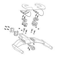 [해외]스램 Vuka Aero C1 Armrest Kit Both SIDes 1137671095 Black