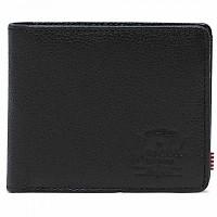 [해외]허쉘 Roy Coin RFID Black Pebbled Leather