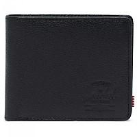 [해외]허쉘 Roy + Coin XL Leather RFID Black Pebbled Leather