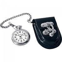 [해외]SPIRIT Pocket Watch With Leather Bag 9136632598 Silver / Black
