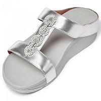 [해외]핏플랍 Fino Sparkles Slide Silver