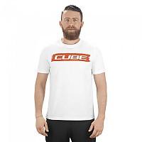 [해외]CUBE Logo Short Sleeve T-Shirt 1138325076 White / Red