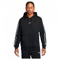 [해외]나이키 Sportswear Repeat Hoodie Black / Reflective Silver
