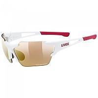 [해외]우벡스 Sportstyle 803 Race S Colorvision Variomatic Mirror Sunglasses 1138309922 White Matte / Red