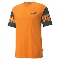 [해외]푸마 Power Colorblock Short Sleeve T-Shirt Vibrant Orange