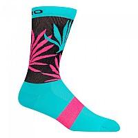 [해외]지로 Comp Racer High Rise Socks 1138247811 Turquoise / Pink